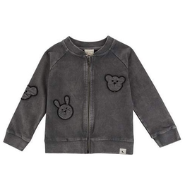 Turtledove London Organic Embroidered Besties Bomber Jacket