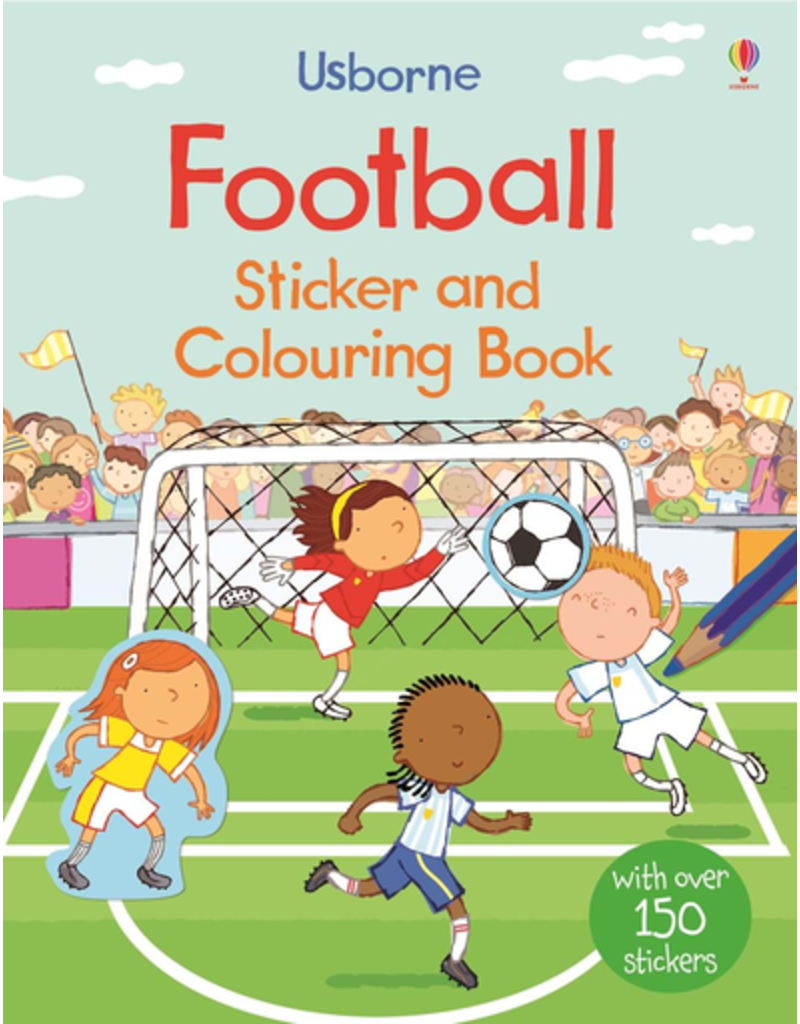 Usborne Football Sticker And Colouring Book Bind-Up
