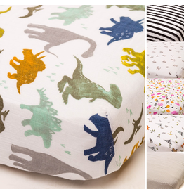 Little Unicorn Cotton Muslin Fitted Sheet