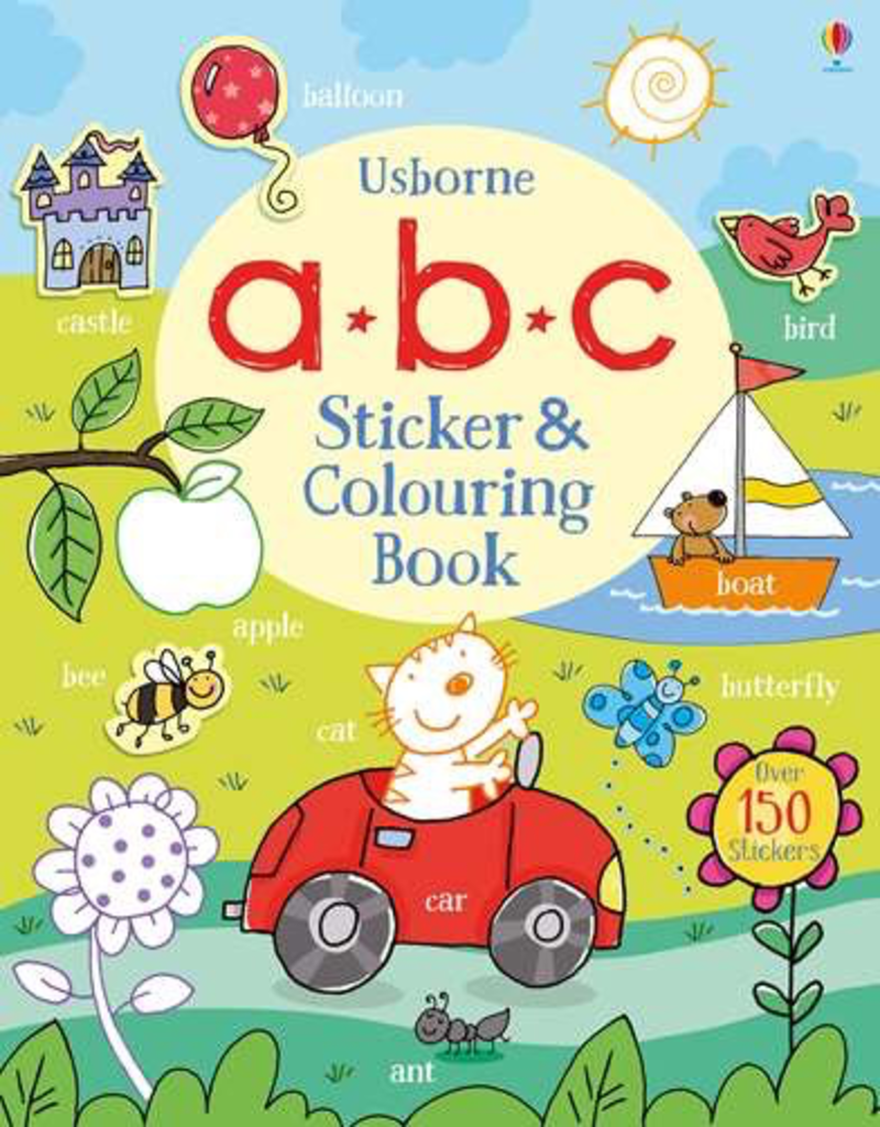 Usborne Abc Sticker & Colouring Book