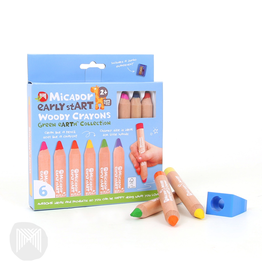 Early Start - Woody Crayons - FSC 100% 6pk