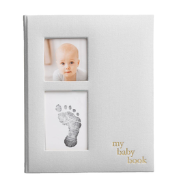 Linen Baby Book - Ivory
