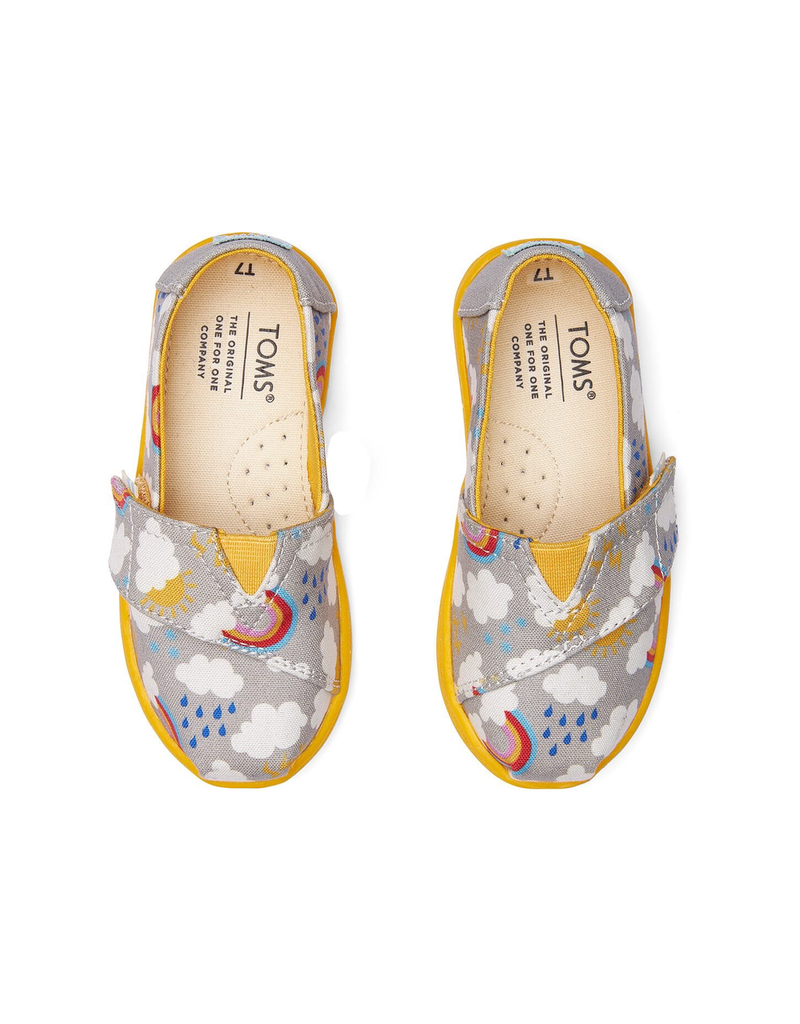 Toms Grey Cloudy Day Print Toddler Classics