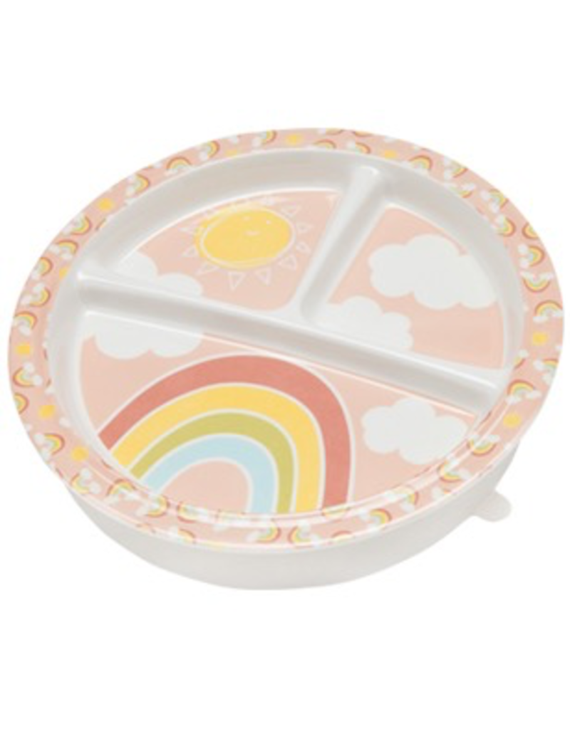 ORE Originals Divided Suction Plate - Rainbows & Sunshine