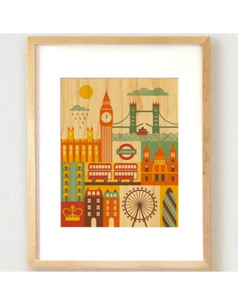 Petit Collage London Print 11x14
