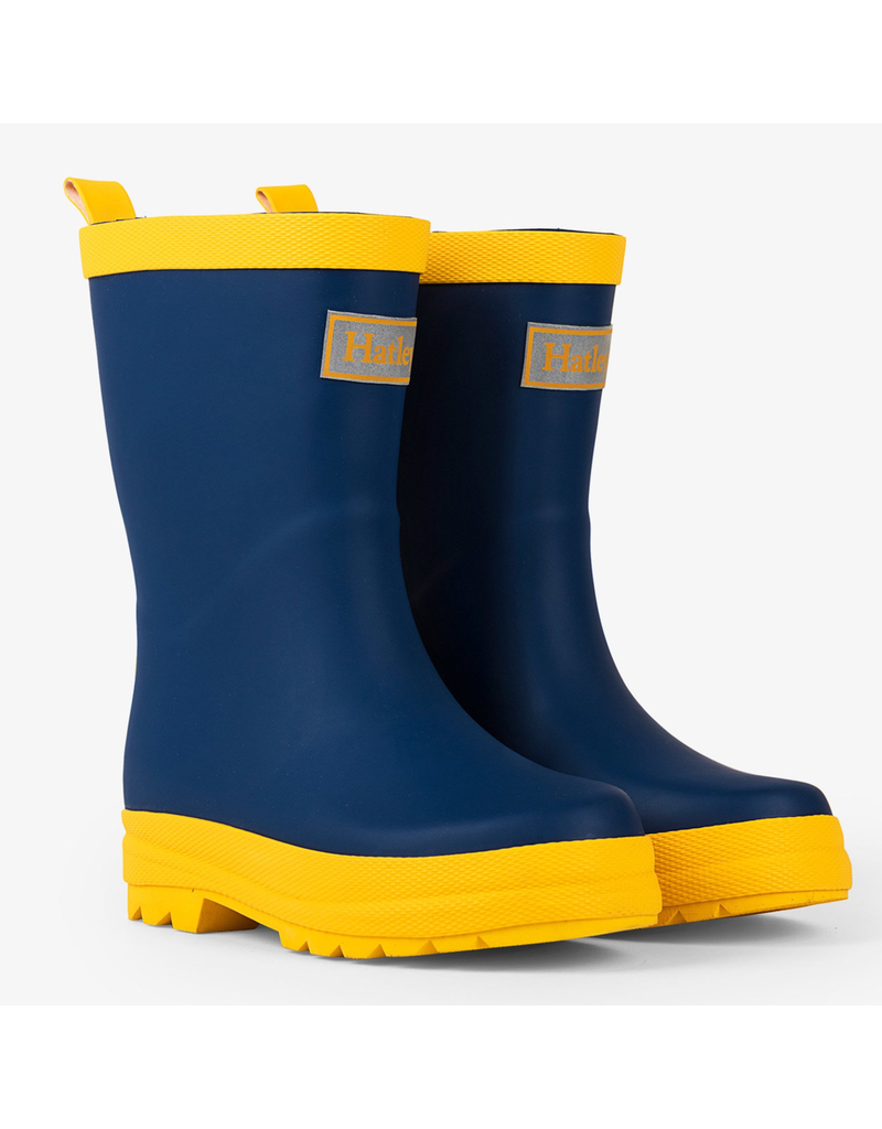 Hatley Navy & Yellow Rain Boots
