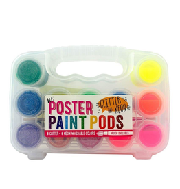 Neon & Glitter Poster Paint Pods