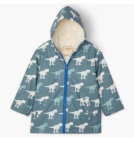 Hatley T-Rex Sherpa Lined Colour Changing Splash Jacket