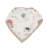 Loulou Lollipop Bandana Bib Set, Farm Animals, 2pk