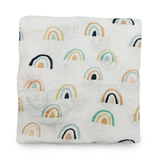 Loulou Lollipop Neutral Rainbows Swaddle