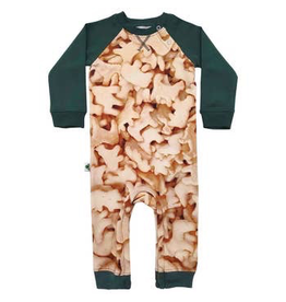 Inchworm Alley Animal Crackers Organic Terry Romper