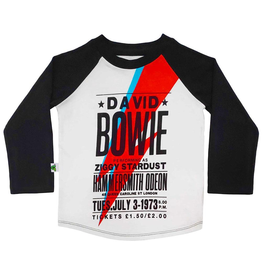 Inchworm Alley Organic David Bowie Raglan Tee