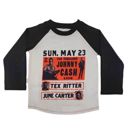 Inchworm Alley Organic Johnny Cash Raglan Tee