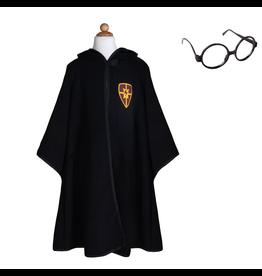 Great Pretenders Wizard Cloak & Glasses, Size 5-6