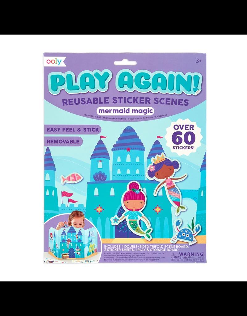 Play Again Reusable Sticker Scenes Mermaid Castle