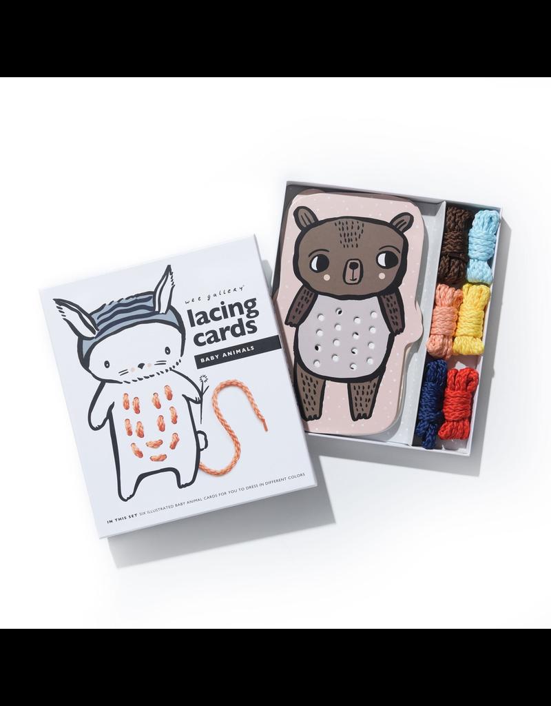 Wee Gallery Baby Animals Lacing Cards