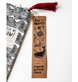 Wee Gallery Organic Canvas growth Chart - Ocean
