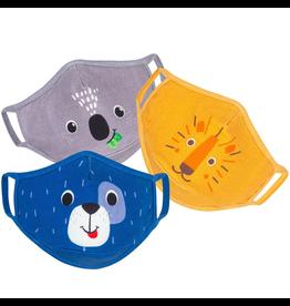 Zoocchini Organic Reusable Masks 3pk Animals 3Y+