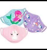 Zoocchini Organic Reusable Masks 3pk Unicorn/Mermaid 3Y+