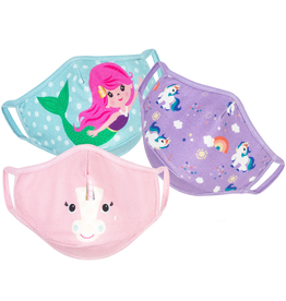 Zoocchini Organic Reusable Masks 3pk Unicorn/Mermaid 3Y+