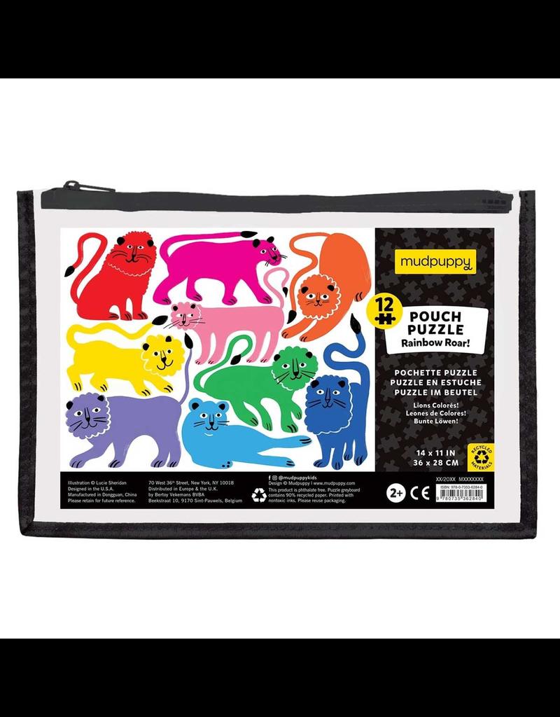 Mudpuppy 12 Piece Puzzle - Rainbow Roar!