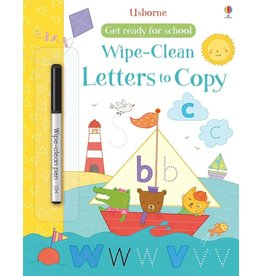 Usborne Get Ready For School Wipe-Clean: Letters To Copy