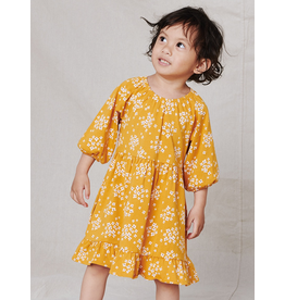 Tea Collection Golden Ruffle Dress