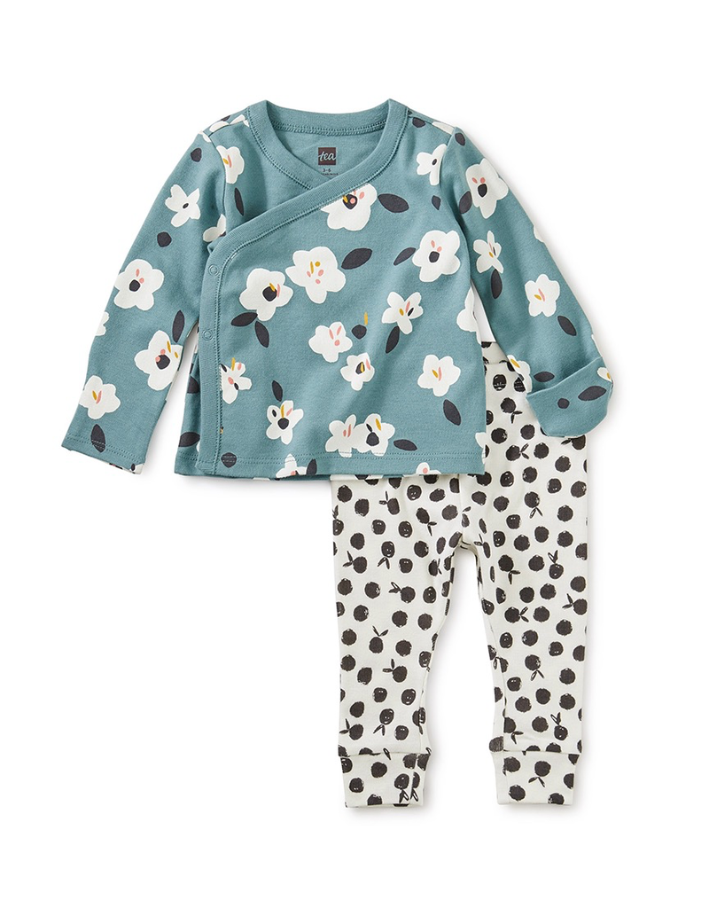 Tea Collection Floral Wrap Top Baby Outfit