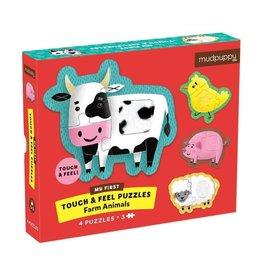 Mudpuppy Touch & Feel Puzzle Farm Animals 12m+