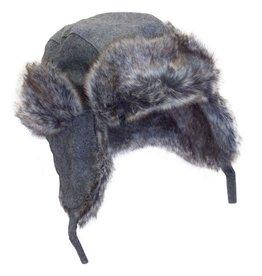 Wool Blend Faux Fur Hat