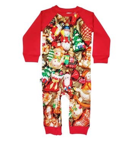 Inchworm Alley Xmas Ornaments Organic Terry Romper
