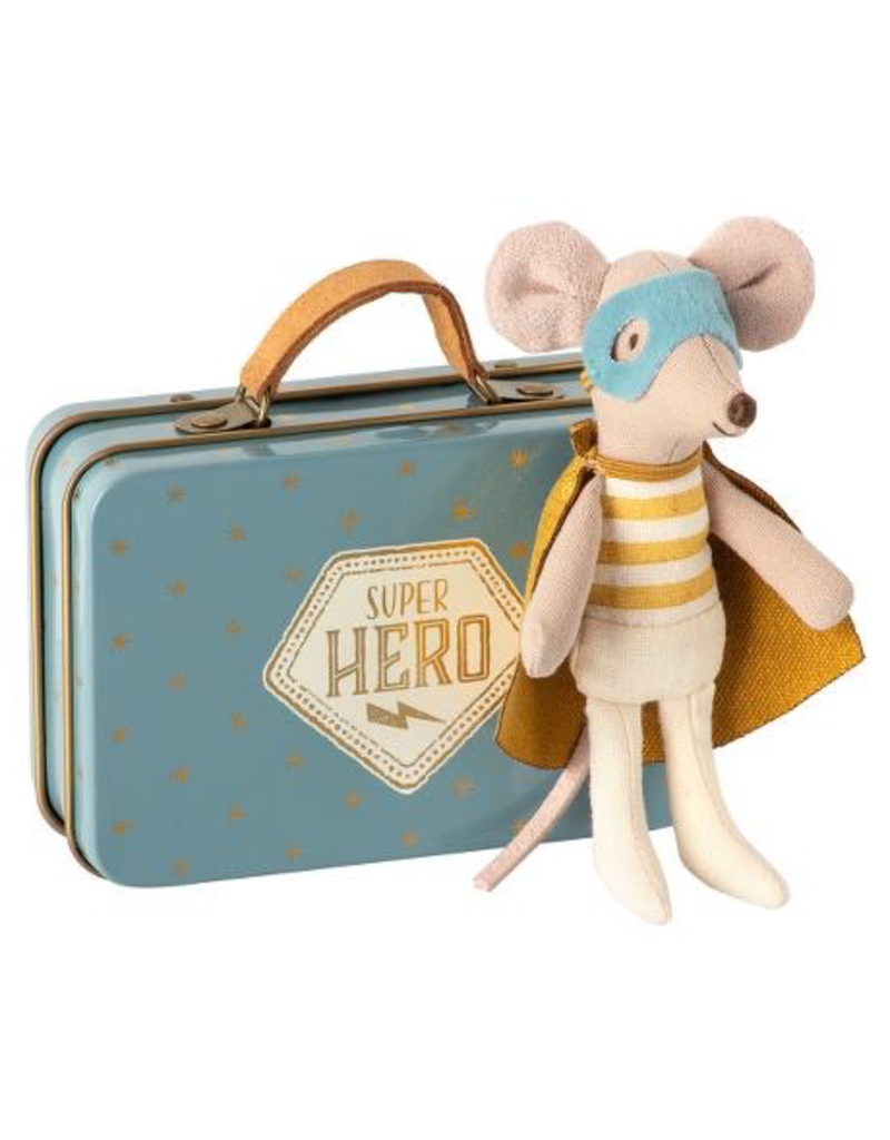 Maileg Mouse Guardian Hero w/Suitcase