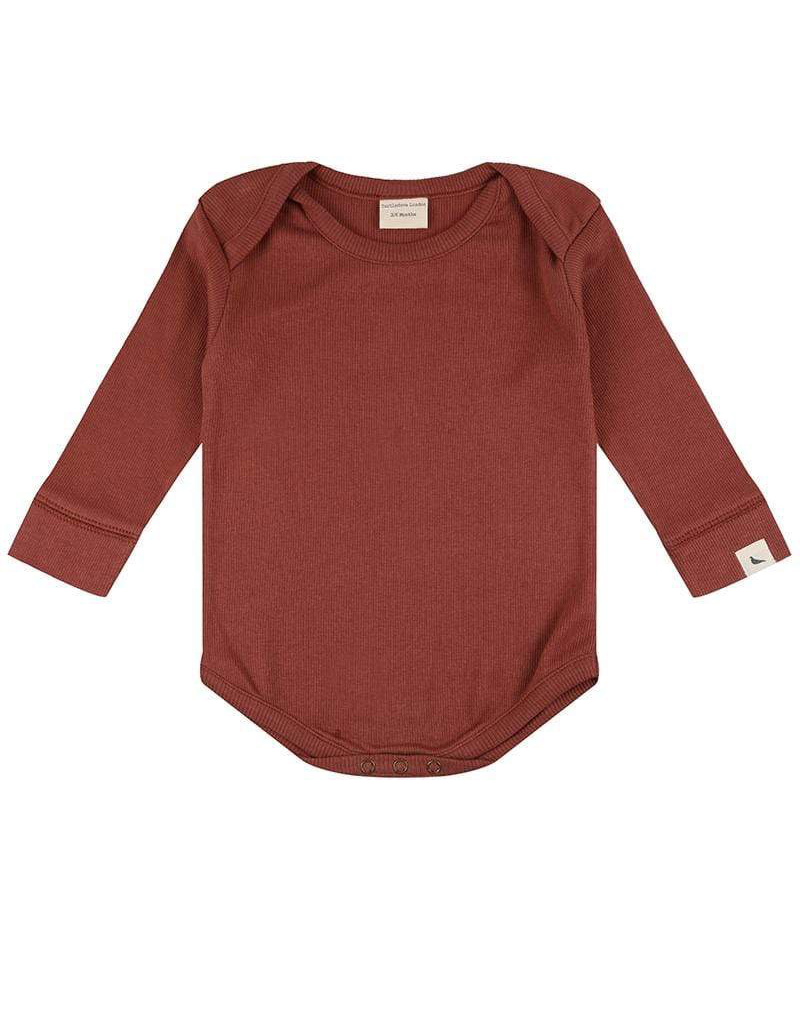 Turtledove London Brick Rib Organic Bodysuit