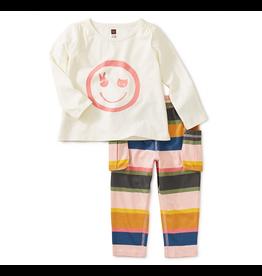 Tea Collection Smile Pant Set Sizes 3, 4