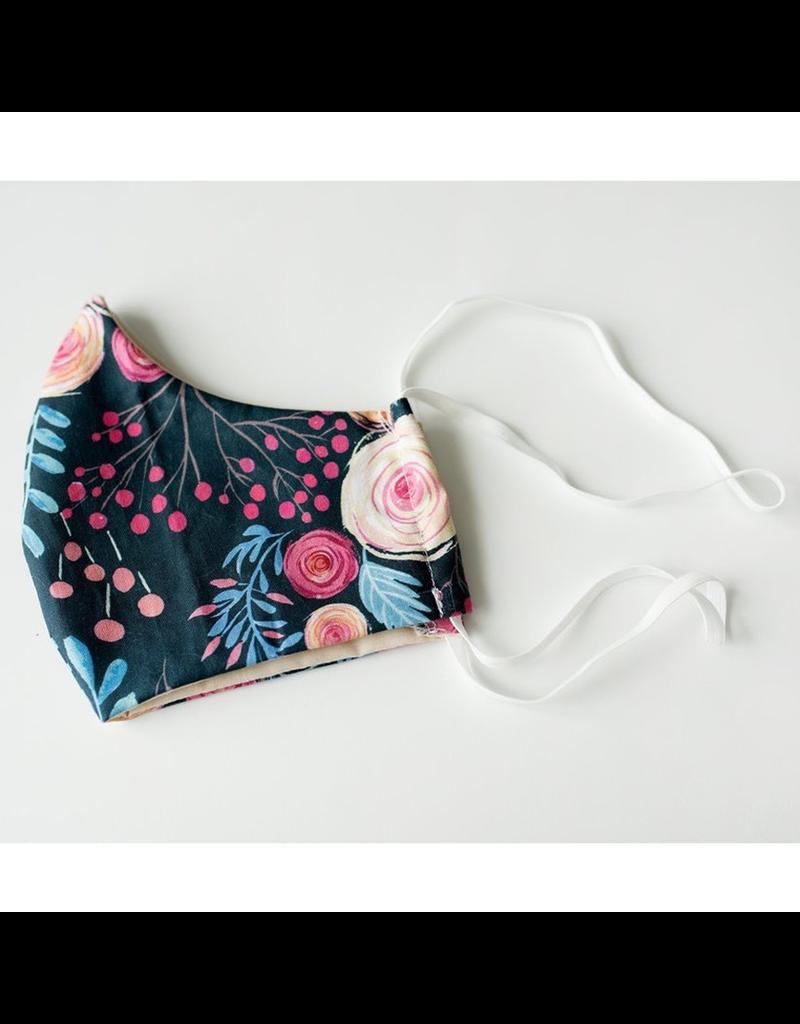 Colibri Adult Fabric Mask Roses