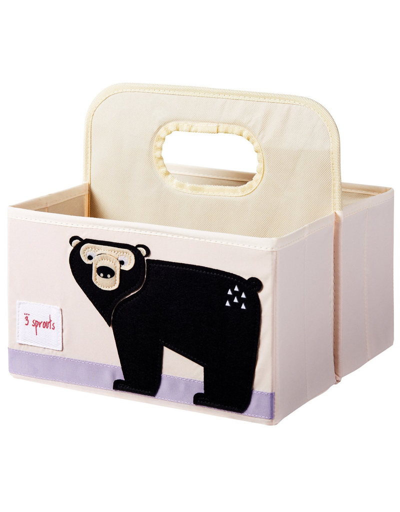 3 Sprouts Bear Diaper Caddy
