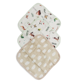 Loulou Lollipop Woodland Gnome Washcloth 3pk