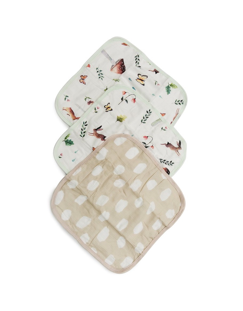Loulou Lollipop Woodland Gnome Washcloth 3pk