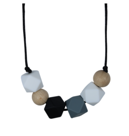 Brooklyn Geometric Teething Necklace