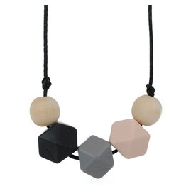 Olivia Geometric Teething Necklace
