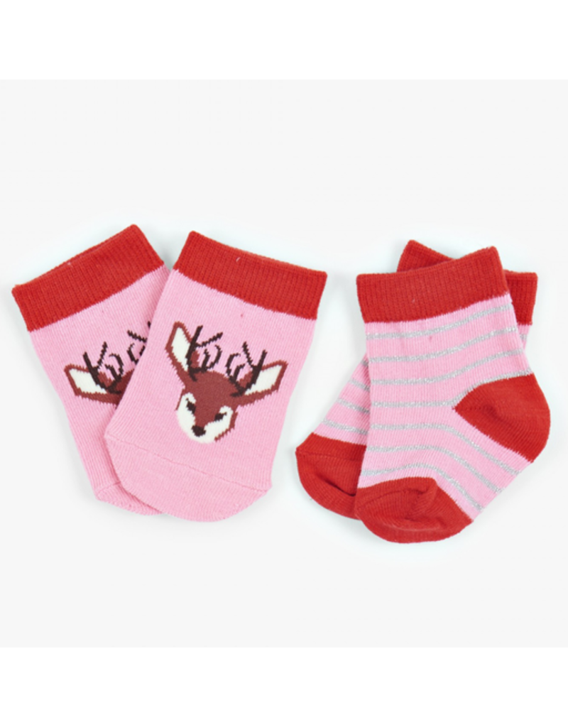 Hatley Infant Socks - Pretty Fawn, Nb-12m