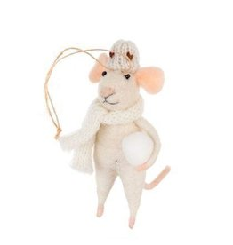Snowball Stewart Mouse Ornament