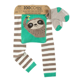 Zoocchini Sloth Legging + Sock Set