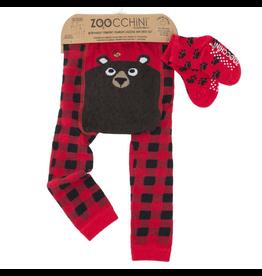 Zoocchini Bear Legging + Sock Set