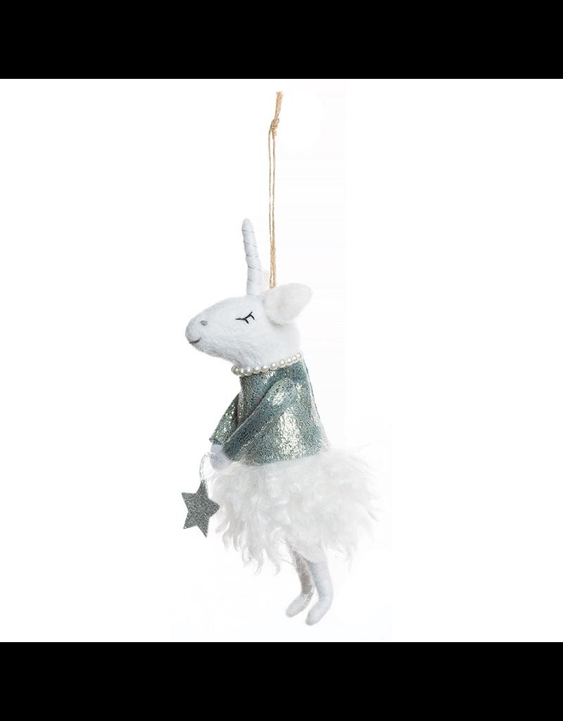 Felt Unicorn Ornament