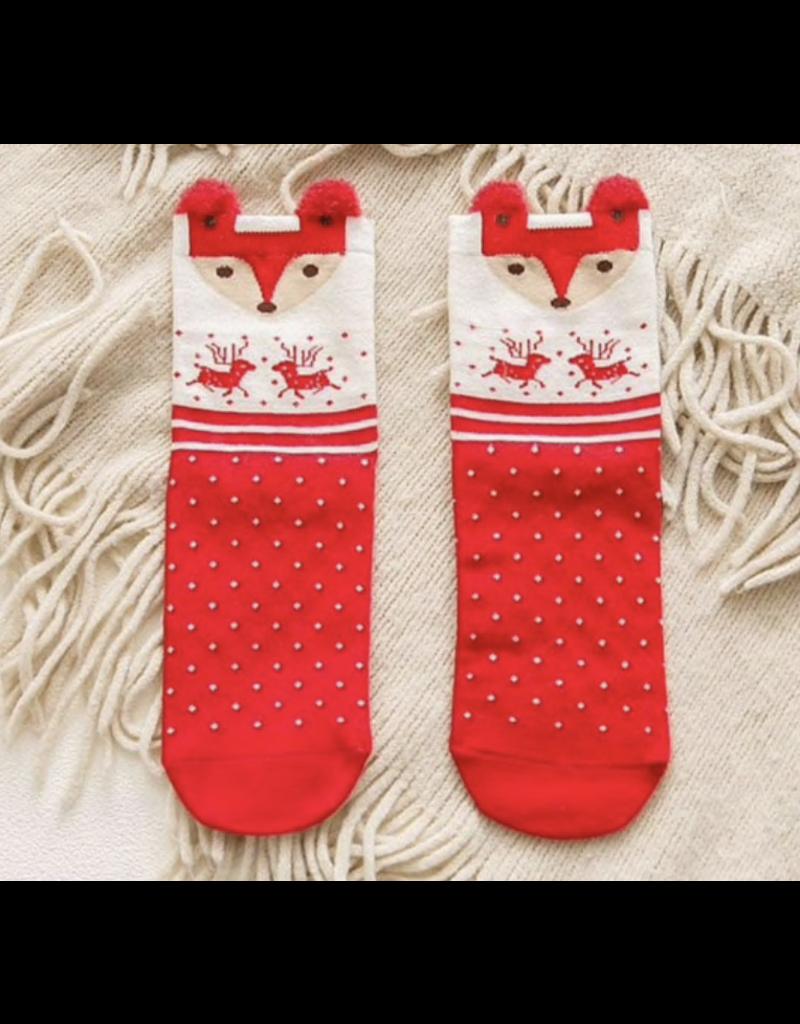 Dot Deer Socks