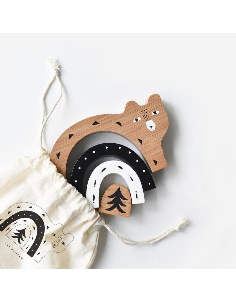 Wee Gallery Bamboo Nesting Animals - Bear