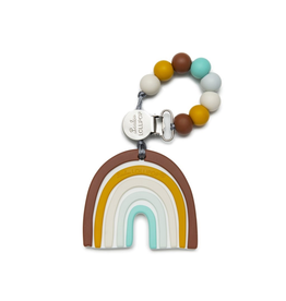 Loulou Lollipop Silicone Neutral Rainbow Teether