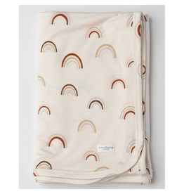 Loulou Lollipop Stretch Knit Blanket in TENCEL™ - Canyon Rainbow