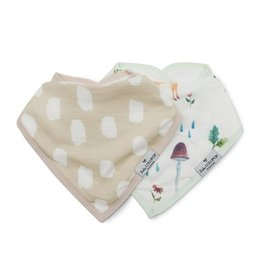 Loulou Lollipop Bandana Bib Set, Woodland Gnome, 2pk